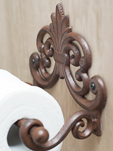 Fleur De Lis Toilet Paper Roll Holder Vintage Unique