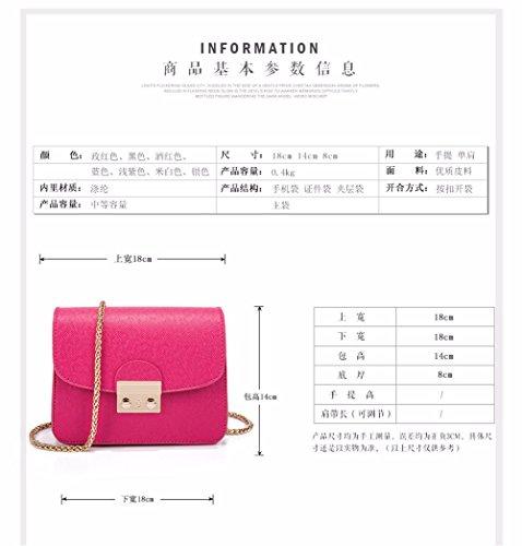 MSZYZ Urlaub Geschenke Kette Tasche Schultertasche lock kleine quadratische Tasche Schultertasche Mini Bag Gelb wanxA1