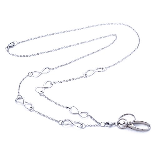 Women's Fashion Lanyard Necklace Chain Lanyard Super Strong for Keys Badge Holder (T4) by Sum's