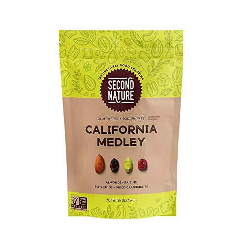 - Second Nature California Medley Trail Mix - Healthy Nuts Snacks Blend - 26 oz Resealable Pouch