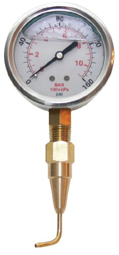 Underhill A-HCGPK Headchecker Gauge and Pitot Tube, 160 PSI