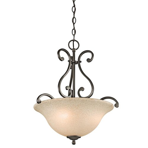 Kichler 43227OZ Camerena Pendant 3-Light, Olde Bronze (Kichler Glass Floor Lamp)