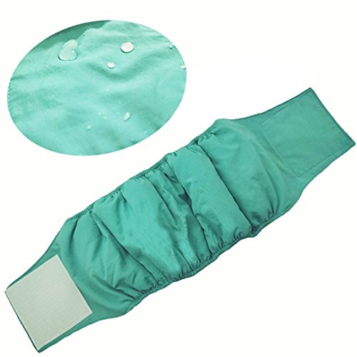 QCHOMEE Pet Physiological Belt Male Dog Breathable Hygiene Nappy Sanitary Pants Dog Diapers/Belly Bands/Wraps for Small/Medium Male Dogs