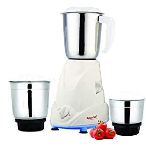Signoracare Eco Plus Mixer Grinder, 500W, 3 Jars (White)