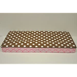 Bacati Butterflies/Lady Bug Pink/Chocolate Changing Pad Cover