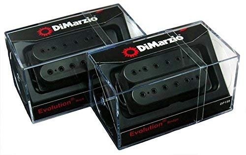 DiMarzio Evolution Neck & Bridge Humbucker Pickup Set, Black, Regular Spacing
