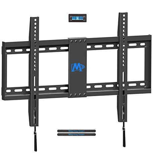 Mounting Dream TV Mount for Most 42-70 Inch Flat Screen LED, LCD and Plasma TV, Fixed Low Profile TV Wall Mount - Max VESA 600 x 400mm - 132 lbs Capacity