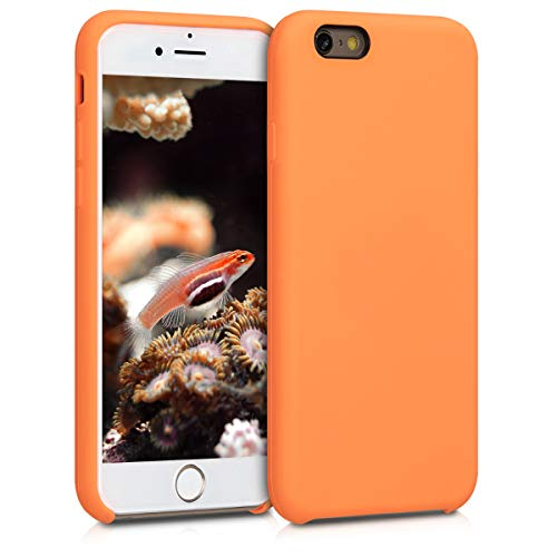 - kwmobile TPU Silicone Case for Apple iPhone 6 / 6S - Soft Flexible Rubber Protective Cover - Cosmic Orange
