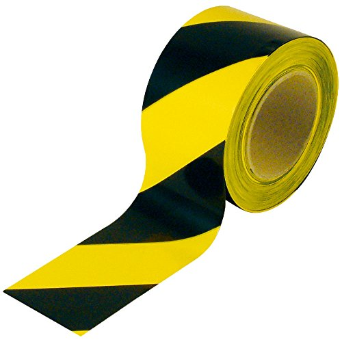 (BESEA Barricade Ribbon Caution Tape Safety Warning Tape Sharp Red Economical 3-Inch by 1000 feet Portable Roll Non-Adhesive for Danger/Hazardous areas.)