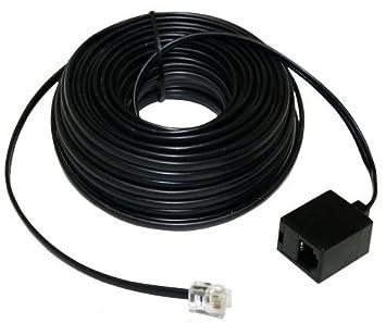 AERZETIX: Cable alargador telefónico RJ11 6p4c 15 metros de Ethernet ADSL Modem C1533