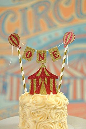 (Circus Cake topper, Vintage circus cake topper, smashcake)