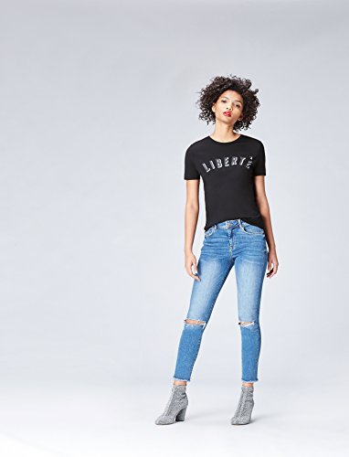 Donna shirt Girocollo schwarz Nero T Find x0n4qgwWzg
