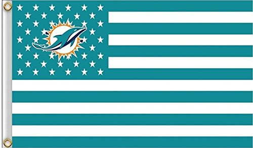 Miami Dolphins Americana Flag Logo Flag 3x5- With Grommets ()