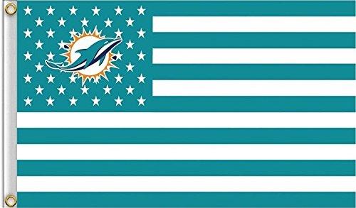(Miami Dolphins Americana Flag Logo Flag 3x5- With Grommets)