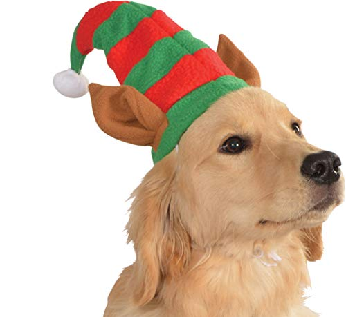 Rubie's Christmas Pet Costume, Medium to Large, Elf Hat with Ears -