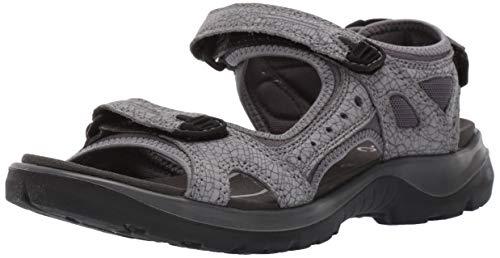 ECCO Women's Yucatan outdoor offroad hiking sandal, titanium/dark shadow, 12-12.5 M US