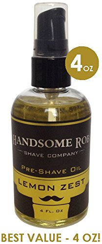 Lemon Pre Shave Oil - 4oz! By Handsome Rob Shave Co.