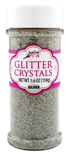 Sugar Coated Cupcake - Silver Glitter Crystals Edible 5.4 Oz. Cake Cupcakes Cookies Icing