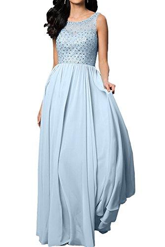 Linie La Aermellos Anmutig Blau Rock Braut Promkleider Abendkleider Himmel Festlichkleider Ballkleider A Lang mia Champagner PqwCSHq
