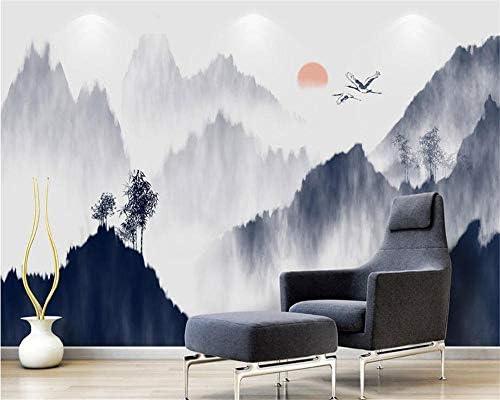 壁紙ホーム装飾壁画手描きインク風景テレビ壁の背景壁壁画3D壁紙-350X250Cm