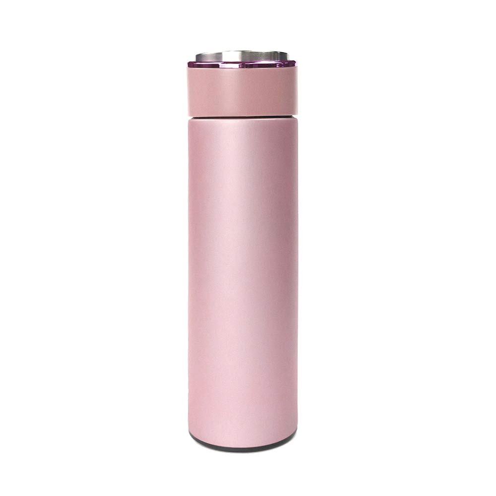 Octto 17oz/0.49L Matte thermos water bottle everyday carry —Insulated Stainless Steel 304 Traveler Cup, Keeps the drink hot and cold for about 10 hours (Pink, Matte) by Octto