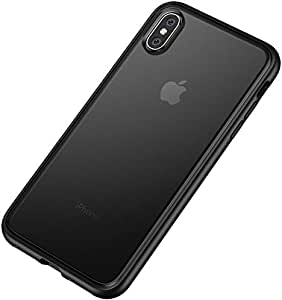 for iPhone XS MAX 6.5 Inch Ultra-Thin Transparent Soft Hard hybrid Back Cover Case black