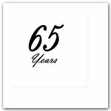 Amazon.com: 65 años elegante negro bebidas Servilletas (16 ...