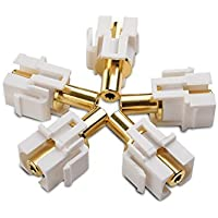 Cable Matters (5-Pack) Gold-Plated 3.5mm TRS Keystone Jack Inserts in White