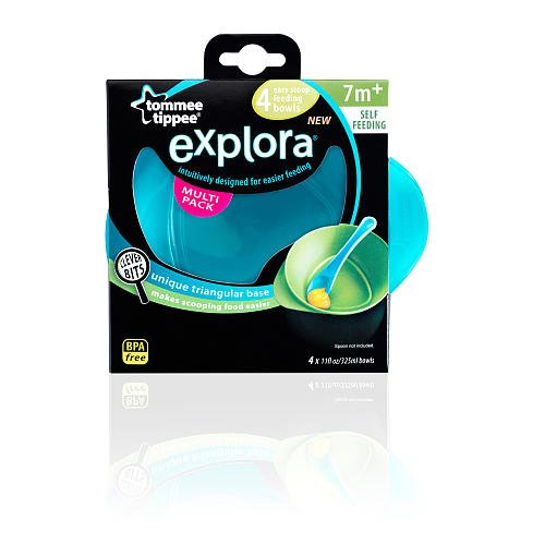 Tommee Tippee Explora Easy Scoop Bowls - 4pk (Boys) (Pink)