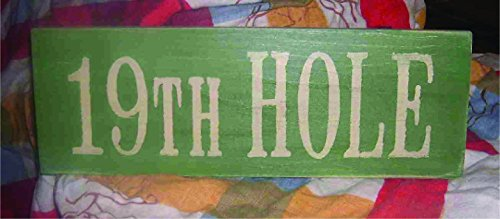 19th Hole Shabby Painted Wood Sign Apres Golfing Sign Clubhouse Sign Father's Day Sign (Golf Apres)