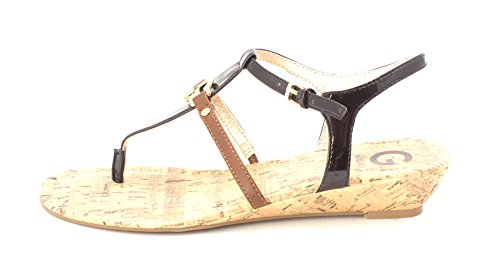 G by GUESS Womens Massi Open Toe Casual Ankle Strap Sandals Black