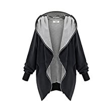 Woya Plus Size Women's Warm Long Tops Jacket Parka Coat Trench Clothes