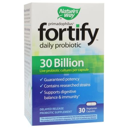 Nature's Way Primadophilus Fortify Daily Probiotic 30 Billion, Vegetarian Capsules - 3PC