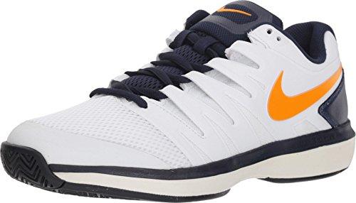 Nike Men's Air Zoom Prestige Tennis Shoes (14 D US, White/Orange Peel/Blackened - Orange White Peel