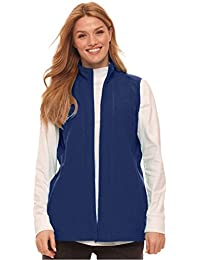 Plus Size Microfleece Zip-Front Vest
