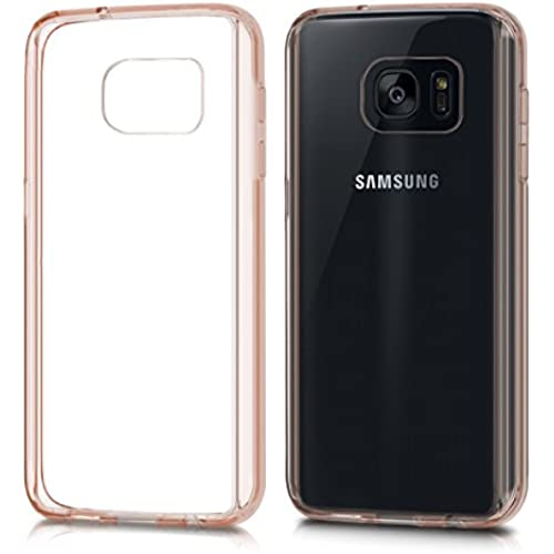 kwmobile Elegant and light weight Crystal Case Design Frame for Samsung Galaxy S7 in pink gold transparent Sales