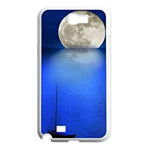 Moon ZLB599389 Customized Phone Case for Samsung Galaxy Note 2 N7100, Samsung Galaxy Note 2 N7100 Case by lolosakes