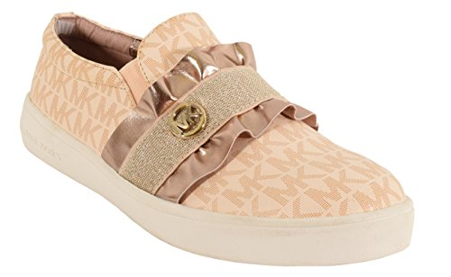 Price comparison product image Michael Kors Ivy Riff Ruffle Slip-on Sneaker Rose Gold 13c