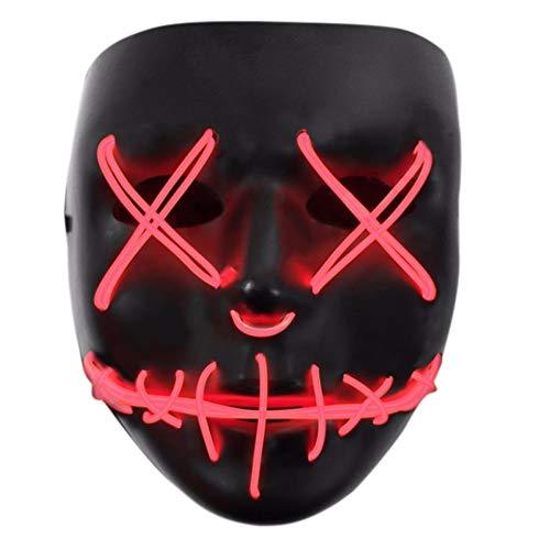 Tulas Light Up Purge Mask Stitched El Wire