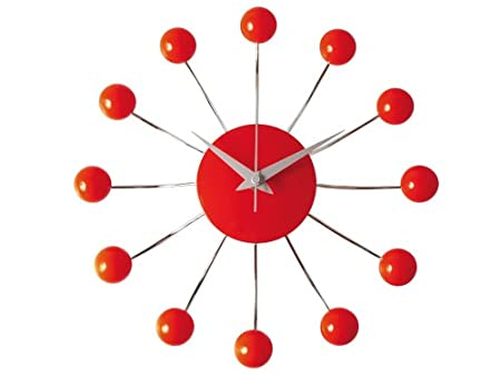 Exceptional Karlsson Spider Wall Clock, Red Ideas