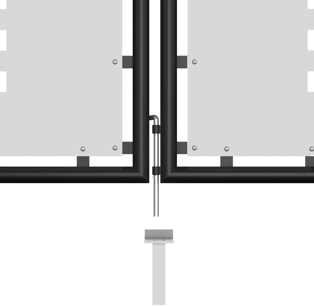 350x125 cm Schwarz Tidyard Metall Gartentor Zauntor Doppeltor Doppelfl/ügeltor Hoftor Einfahrtstor Gartent/ür mit 3 Schl/üsseln Abschlie/ßbar