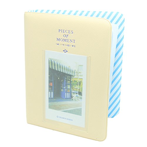 CaiulBasic Album1Yellow Pieces Of Moment Book Album For Films Of Instax Mini 7s 70 8 25 50s 90/Pringo 231/Fujifilm Instax SP-1/Polaroid PIC-300P/Polaroid Z2300 (64 Photos, Cream) from CaiulBasic