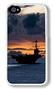 Aircraft Carrier Us Custom iphone 5c Case Back Cover, Snap-on Shell Case Polycarbonate PC Plastic Hard Case white