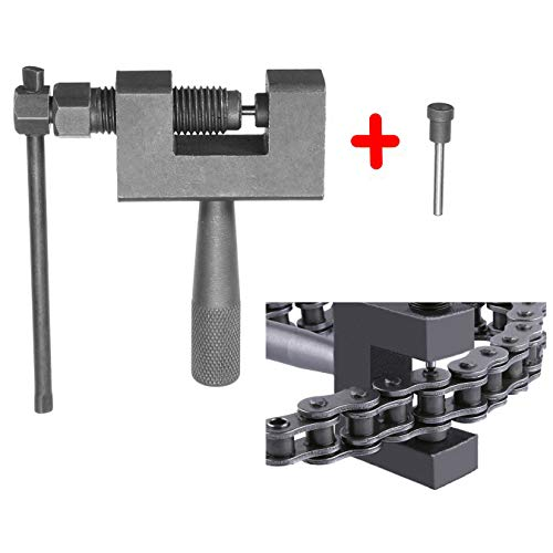 (HfireflyK Chain Breaker # 420-530 Chain Dismantle Tool Suitable for Motorcycle/ATV Dune Buggy/Mower(Provide Multiple Sizes of thimbles) )