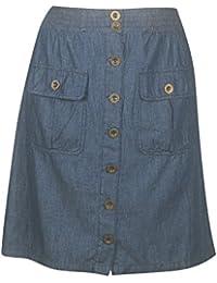 Plus Size Lightweight Denim Skirt