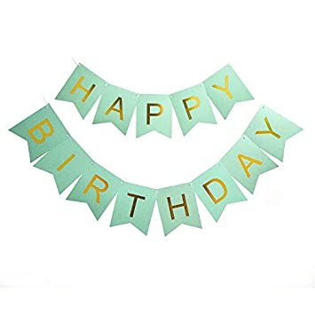 amazon happy birthday banner fillixar green birthday banner