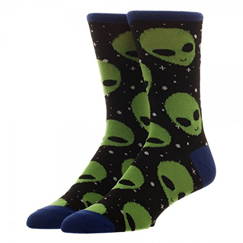 Bioworld Novelty Soft Adult Crew Socks (Alien -