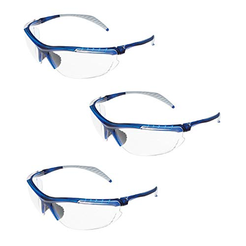 - Encon Safety Veratti 307 Safety Glasses, Translucent Blue Frame, Clear ScratchCoat Lens 09206804 (3 Pair)