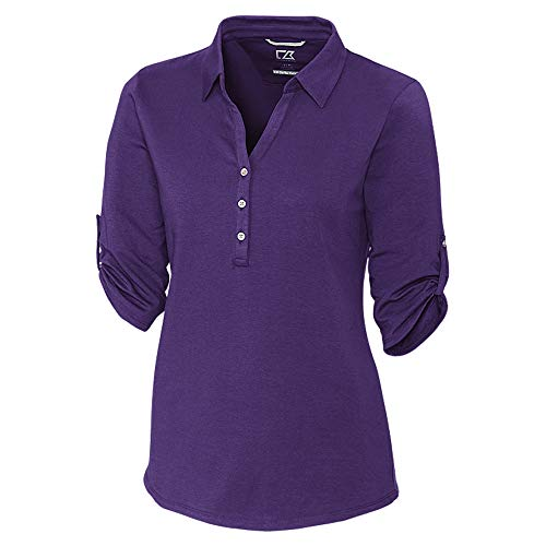 Cutter & Buck LCK00004 Women's E/S Thrive Polo Shirt, College Purple - XXL