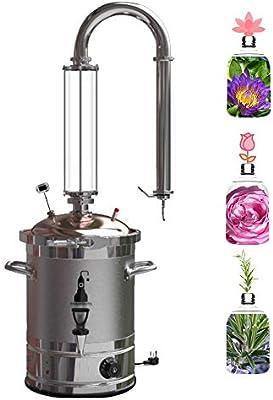 20L Inicio Aparato de destilación de aceites esenciales Destilador de agua Purificador Separatorio: Amazon.es: Hogar